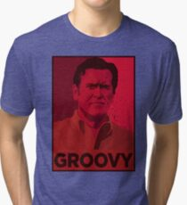 ASH WILLIAMS GROOVY (Ash vs Evil Dead) Tri-blend T-Shirt