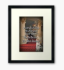 † ❤ † ❤ FAITH † ❤ † ❤ Framed Print