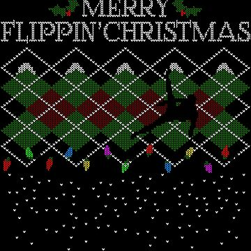 Merry Flippin' Christmas - A Gymnast's Christmas Sweater by johnmarinville