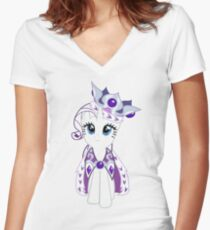 Princess Platinum Complete Outline Women's Fitted V-Neck T-Shirt