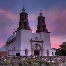 Dawn at Sangre de Cristo Catholic Church by Terence Russell