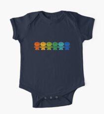Rainbow Robots holding hands Kids Clothes