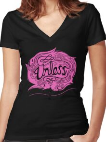 Unless Women's Fitted V-Neck T-Shirt