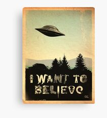 X-Phile: I WANT TO BELIEVE Canvas Print