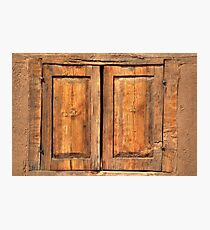 Wooden window Photographic Print