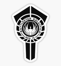 battlestar galactica logo - So Say We All Sticker