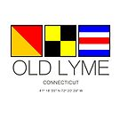 Old Lyme Connecticut Nautical Flag Art  by MyHandmadeSigns