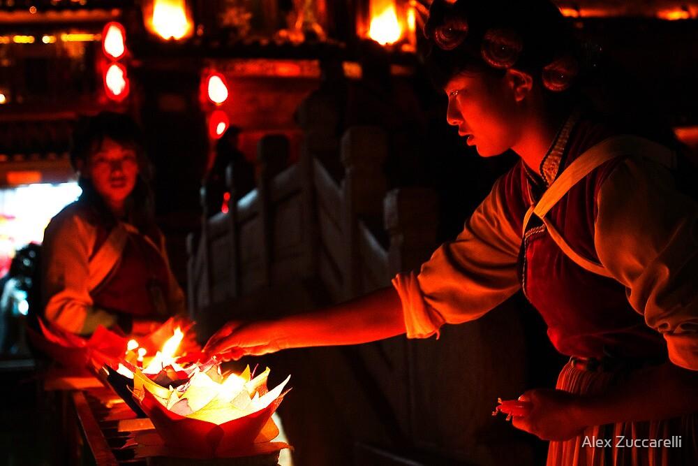 Naxi Candles - Lijiang, China by Alex Zuccarelli