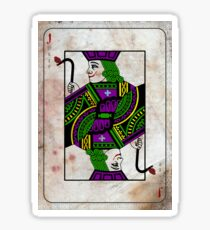 Joker Playing Card Sticker