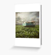 Cornboat Greeting Card