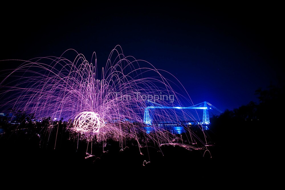 Wirewool Spinning and Newport Transporter Bridge by Tim Topping
