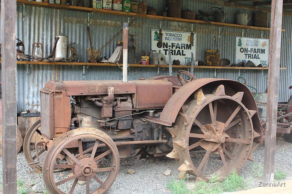 Old Case Tractor Mareeba by ZanneArt