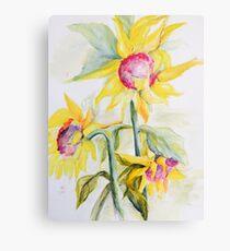 Face Toward the Sunflowers Metal Print