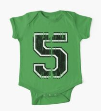 Bold Distressed Sports Number 5 Kids Clothes