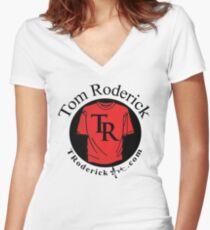 troderickart.com Women's Fitted V-Neck T-Shirt