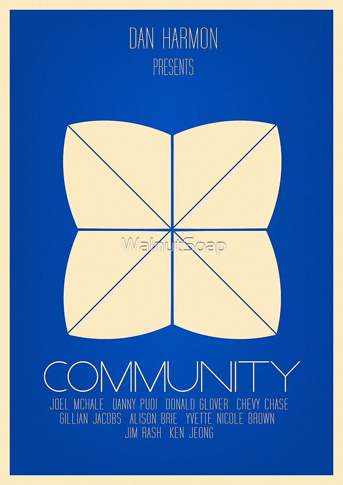 Community - Minimalist Movie Posters by WalnutSoap