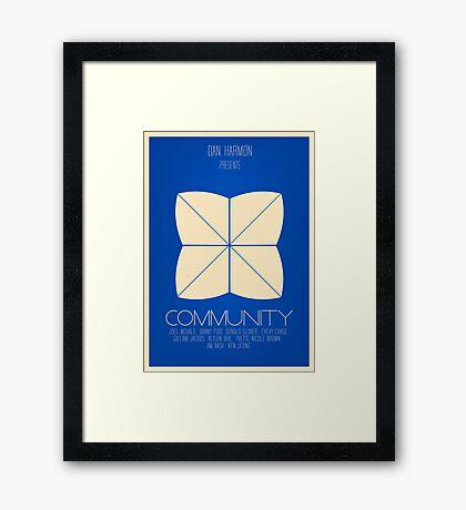 Community - Minimalist Movie Posters Framed Print