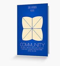 Community - Minimalist Movie Posters Greeting Card