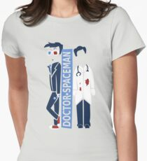 Spacemen (Red, White, and Blue) Womens Fitted T-Shirt