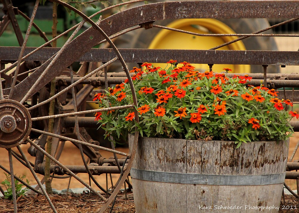 Flowers and Farm Equipment by DressageFan1