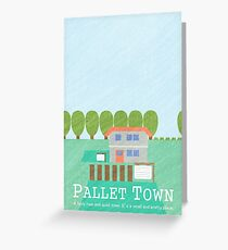 Pallet Town Print Greeting Card