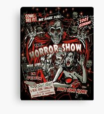 Spook Show Horror movie Monsters  Canvas Print