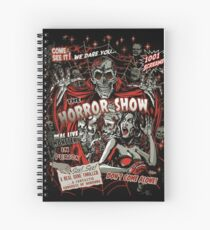 Spook Show Horror movie Monsters  Spiral Notebook