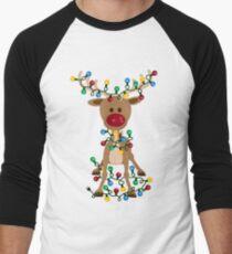 Adorable Reindeer Men's Baseball ¾ T-Shirt