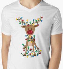 Adorable Reindeer Men's V-Neck T-Shirt