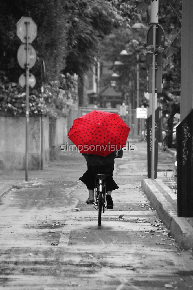 Woman with a Red Umbrella by simpsonvisuals