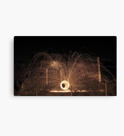 Wirewool Spinning Canvas Print