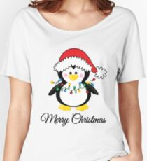 Christmas Penguin Women's Relaxed Fit T-Shirt