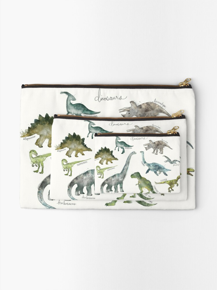 Alternate view of Dinosaurs Zipper Pouch