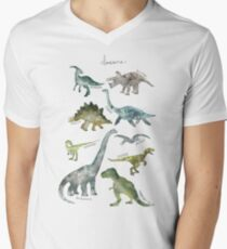 Dinosaurs Men's V-Neck T-Shirt