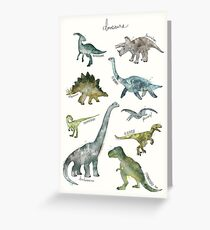 Dinosaurier Grußkarte