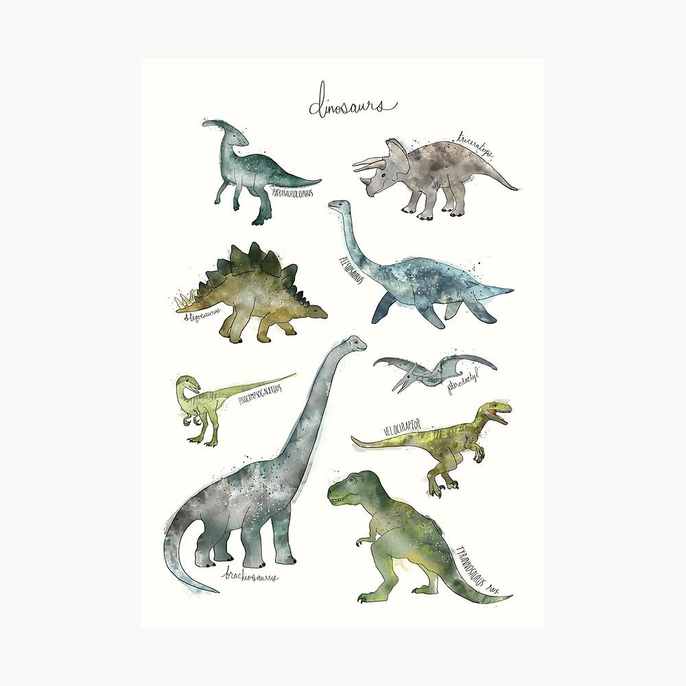 Dinosaurios Lámina fotográfica