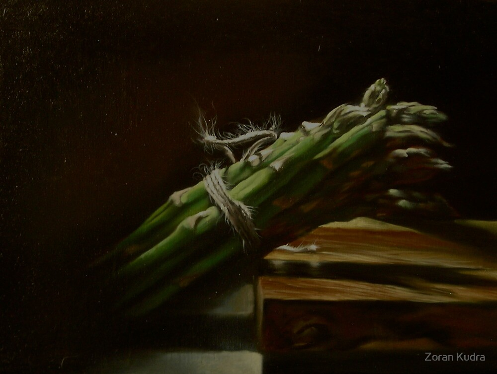 Still life with asparagus by Zoran Kudra