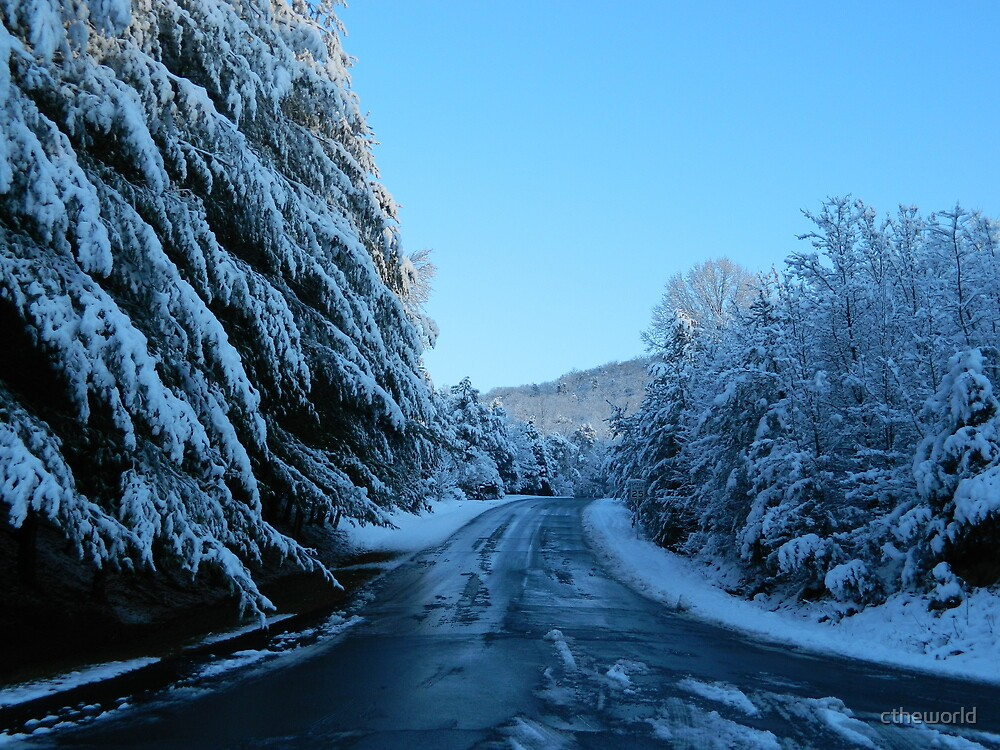 Snowy Country Road   ^ by ctheworld