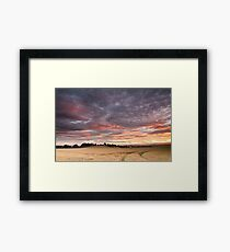 Field with a bump Framed Print