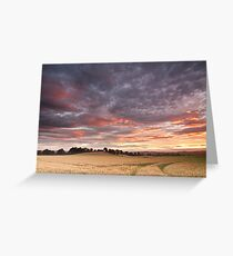 Field with a bump Greeting Card