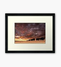 Sweeping past Framed Print