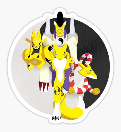 Fox Tail Inferno Sticker