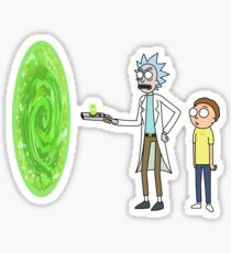 Rick & Morty makin' a portal Sticker