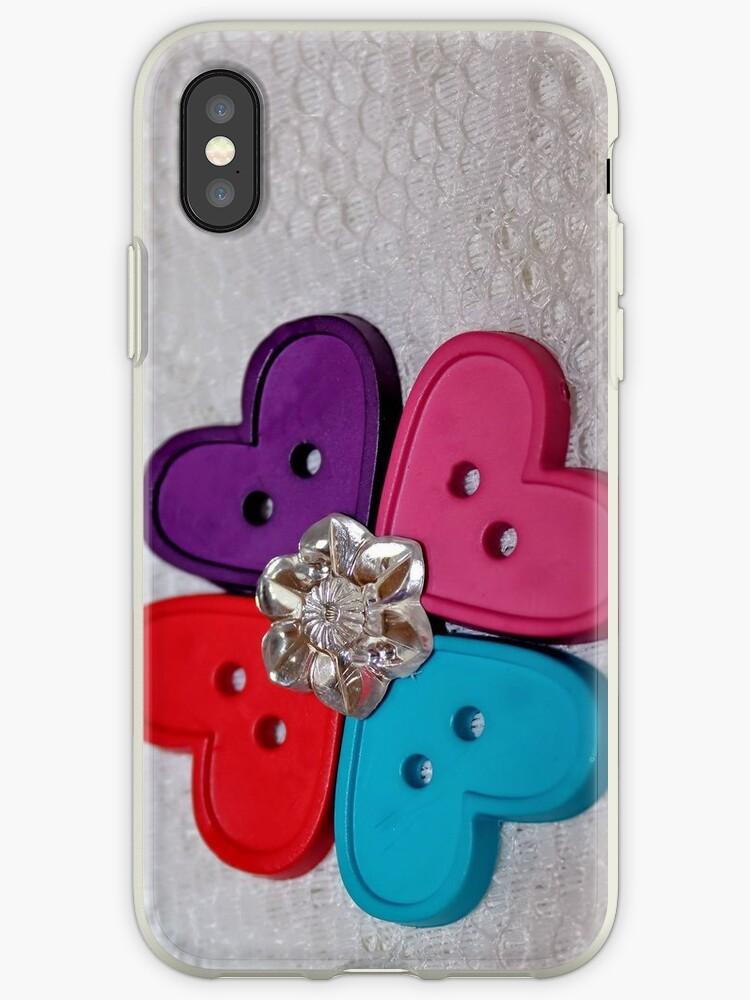 Button Heart Flower [iPhone - iPod Case/Skin] by aprilann