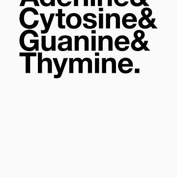 Adenine & Cytosine & Guanine & Thymine. - black design by BoomShirts