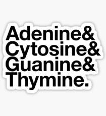Adenine & Cytosine & Guanine & Thymine. - black design Sticker