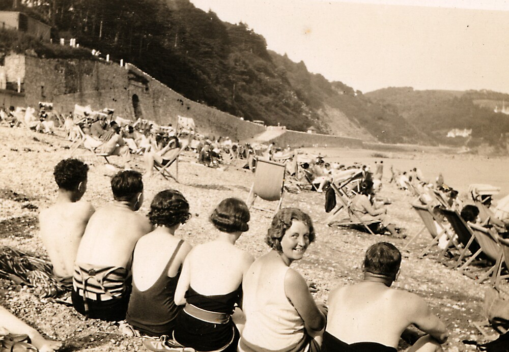 Over The Shoulder Beach Crew 1929 by Robert Phillips