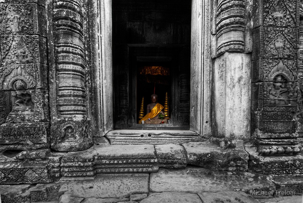 Secret Buddha, Cambodia by Michael Treloar