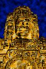Golden faces of Bayon, Cambodia  by Michael Treloar