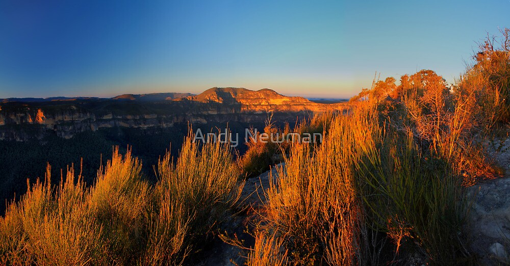 Mt Banks Wall, Blue Mountains, NSW. by Andy Newman